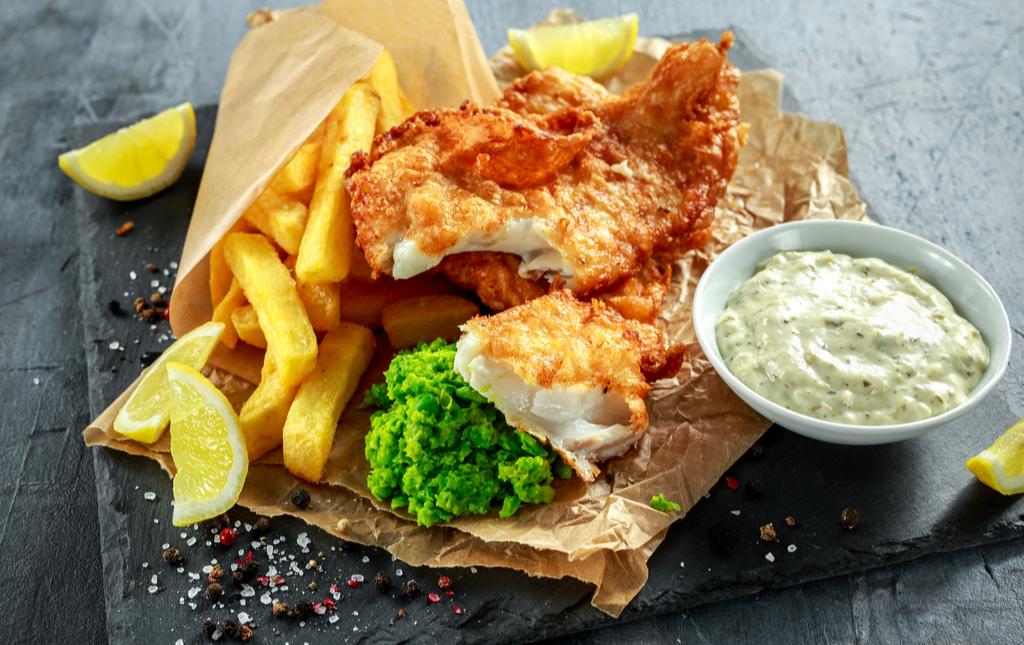 Fish, Chips and Tartar Sauce